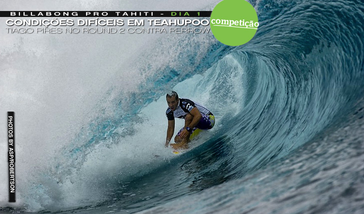 1235Tiago Pires Vs Kieren Perrow no round 2 do Billabong Pro Tahiti