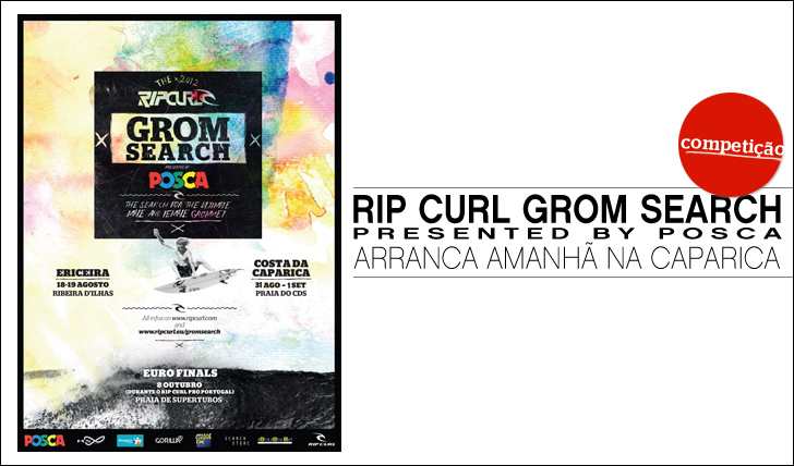 1775Rip Curl Grom Search powered by POSCA arranca amanhã na Costa da Caparica