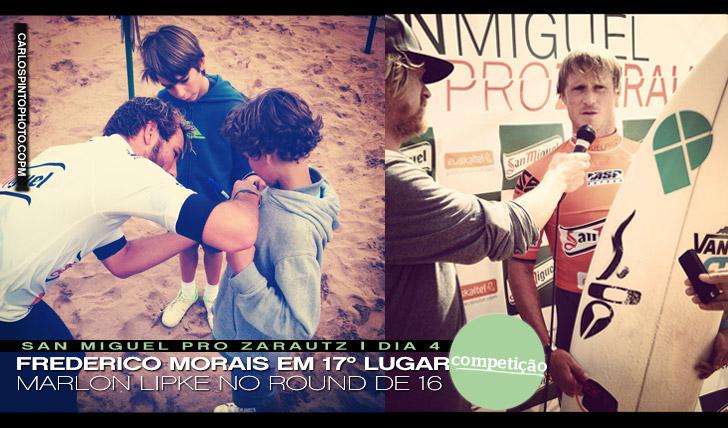 1829Frederico Morais em 17º lugar | Marlon Lipke no round de 16 do San Miguel Pro Zarautz 2012