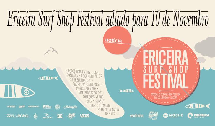 4317Ericeira Surf Shop Festival Adiado para 10 de Novembro