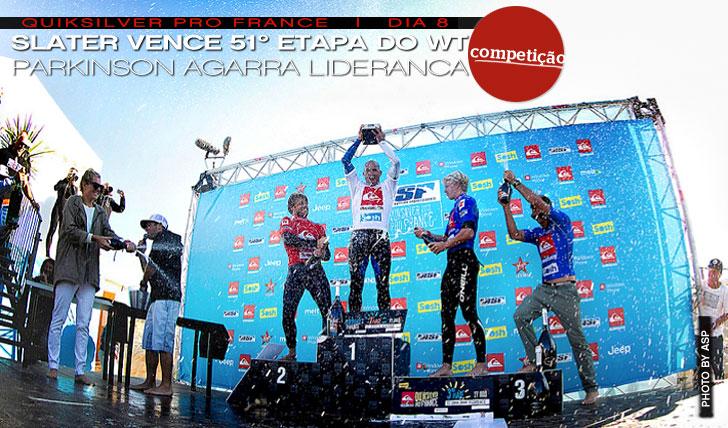 """3156""""King"""" Slater garante a sua 51º vitória no Quiksilver Pro France"""