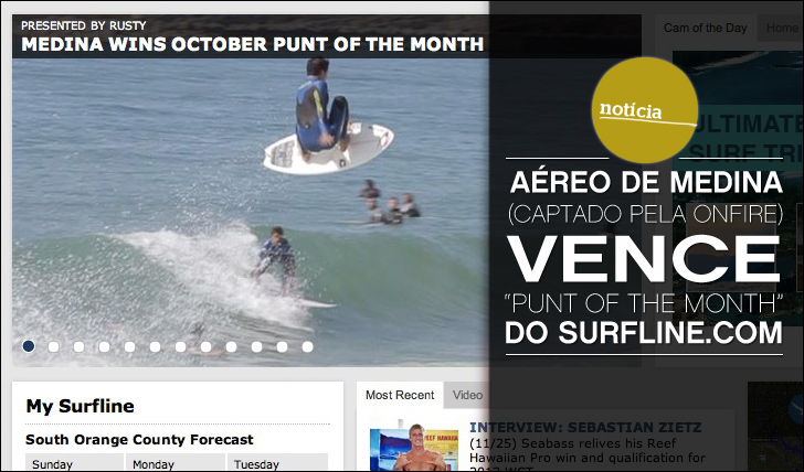 "5362Aéreo de Medina (captado pela ONFIRE) vence ""Punt of the Month"" do Surfline.com"