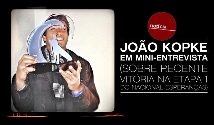 7633João Kopke em mini-entrevista sobre sua primeira vitória competitiva em 2013