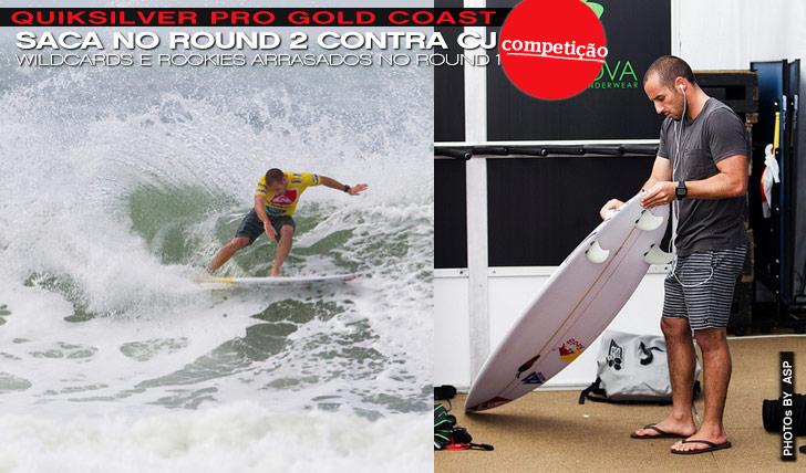"8076Quiksilver Pro Gold Coast | Tiago Pires mostra boa forma mas ""cai"" para o round 2"