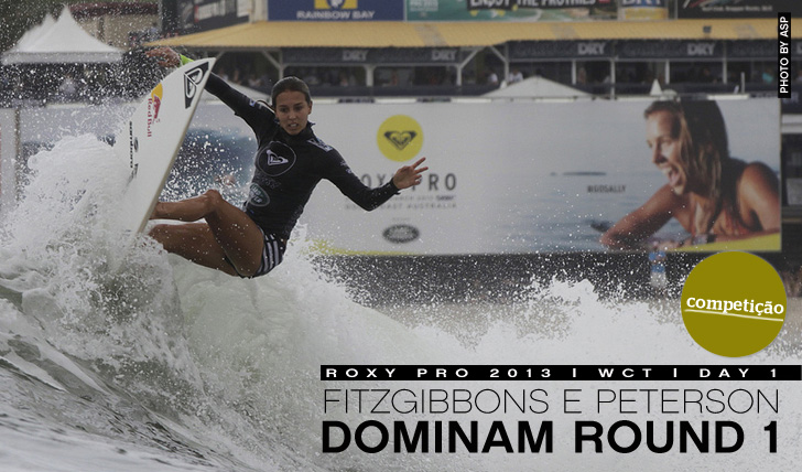 8002Fitzgibbons e Peterson dominam Roxy Pro | Dia 1