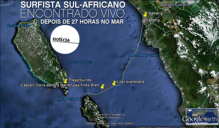 9217Surfista Sul-Africano encontrado vivo na Indonésia depois de 27 horas no mar
