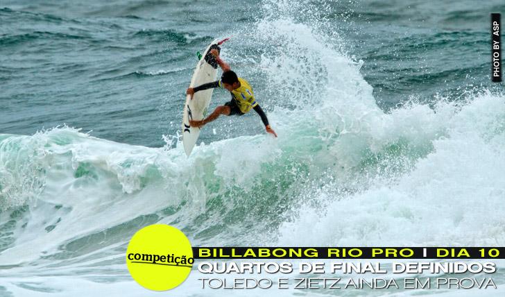 9905Quartos de final definidos no Billabong Rio Pro