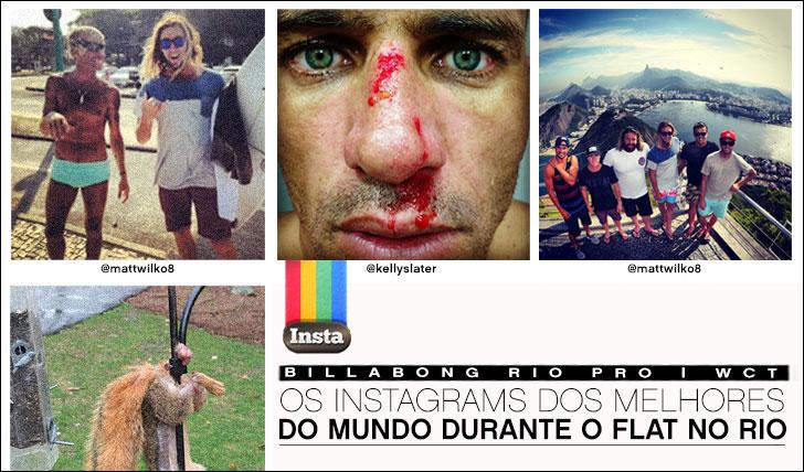 9832Os Instagrams dos melhores do mundo durante o flat do Billabong Rio Pro