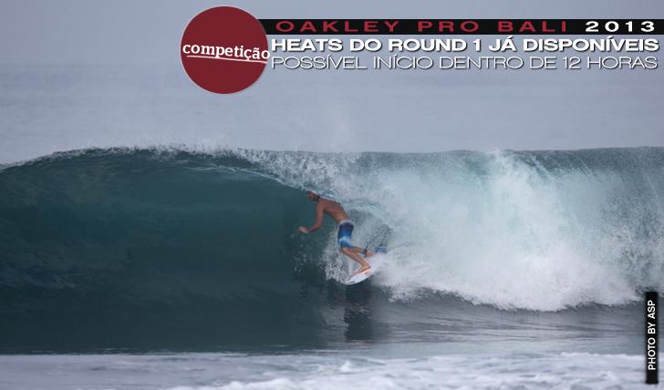 10677Oakley Pro Bali poderá começar dentro de horas | Heats do Round 1