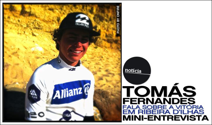 10334Tomás Fernandes fala sobre a vitória em Ribeira D'Ilhas | Mini-Entrevista