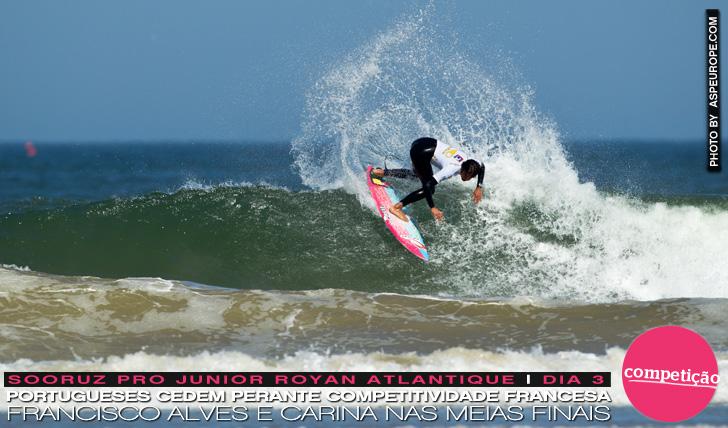 11215Portugueses cedem perante competitividade francesa mas Alves e Carina seguem em frente