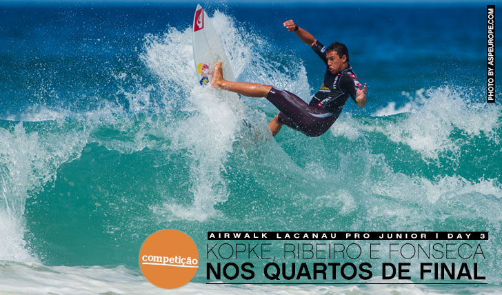 12042Kopke, Ribeiro e Fonseca nos quartos de final do Airwalk Lacanau Pro Junior