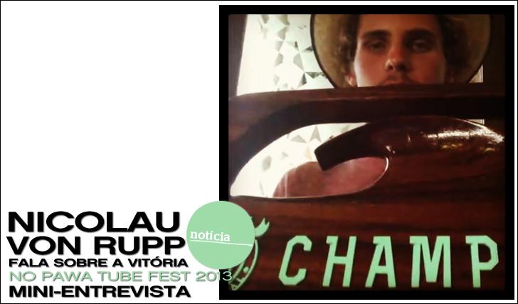 11870Nicolau Von Rupp fala sobre a vitória no Pawa Tube Fest 2013 | Mini-Entrevista