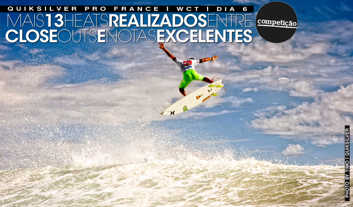13208Close outs, alley oops e notas excelentes no Quiksilver Pro France | Dia 6