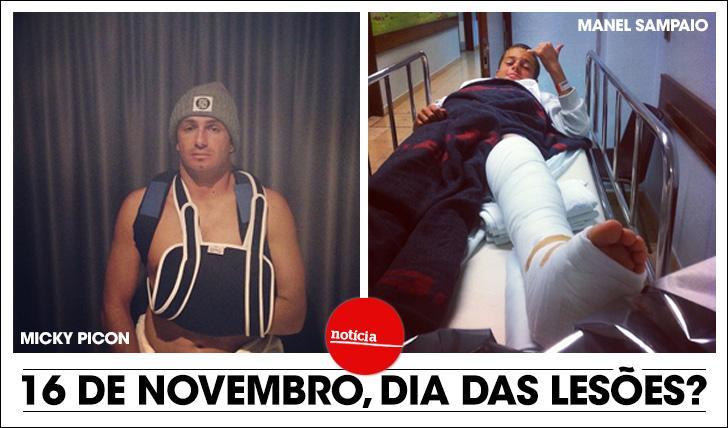 1430416 de Novembro, o dia das lesões?