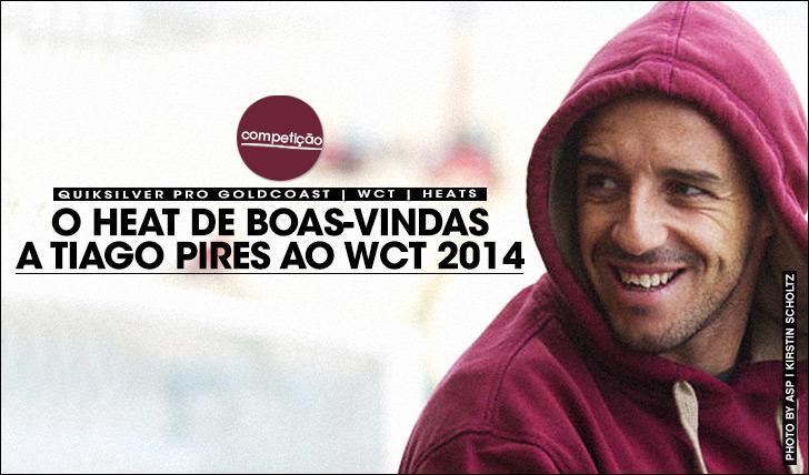 16072O heat de boas-vindas ao regressado Tiago Pires ao WCT
