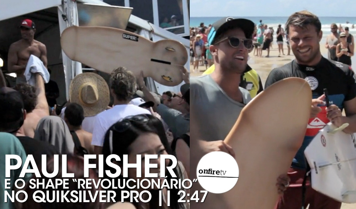 "16910O ""shape revolucionário"" de Paul Fisher no Quik Pro 