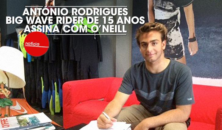17611António Rodrigues, big wave rider de 15 anos, assina com O'Neill