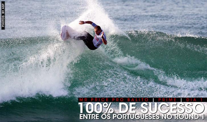 18735100% de sucesso entre os portugueses em Balito | Dia 1