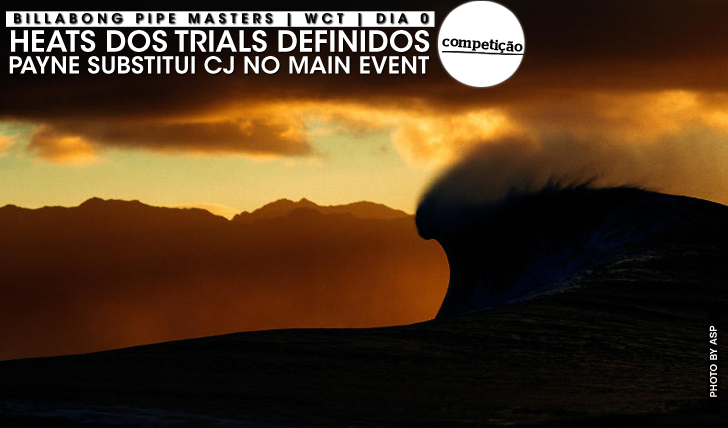 22058Billabong Pipe Masters | Heats dos trials definidos
