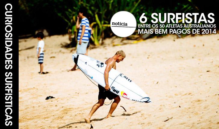 234046 surfistas entre os 50 atletas australianos mais bem pagos