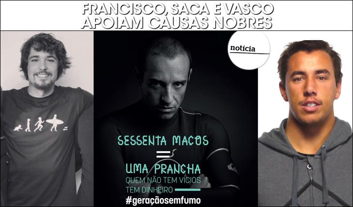 23240Francisco, Saca e Vasco apoiam causas nobres