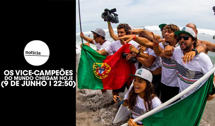 25306Os vice-campeões do mundo chegam hoje a Portugal