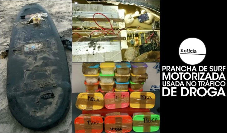 25547Prancha de surf motorizada usada no tráfico de droga