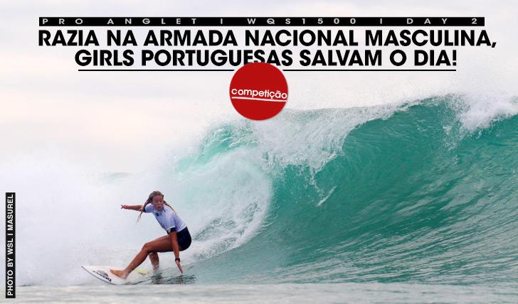 Camilla Kemp continua a exibir o quanto o seu surf progrediu no árduo QS, estando já no round 3 e salvando a honra do dia para a armada portuguesa (masculina e feminina).