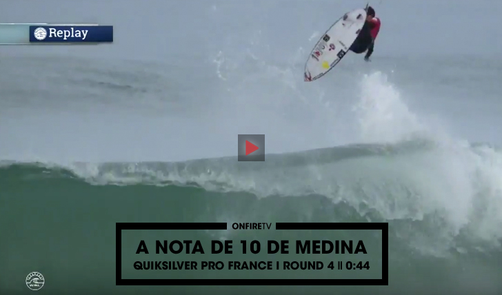 27724O 10 de Gabriel Medina no round 4 do Quiksilver Pro France || 0:44