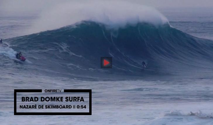 28606Brad Domke surfa na Nazaré de skimboard || 0:54