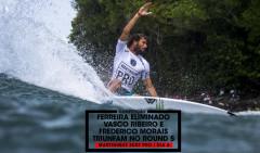 Frederico Morais dominou o seu heat do início ao fim. WSL / Poullenot/Aquashot
