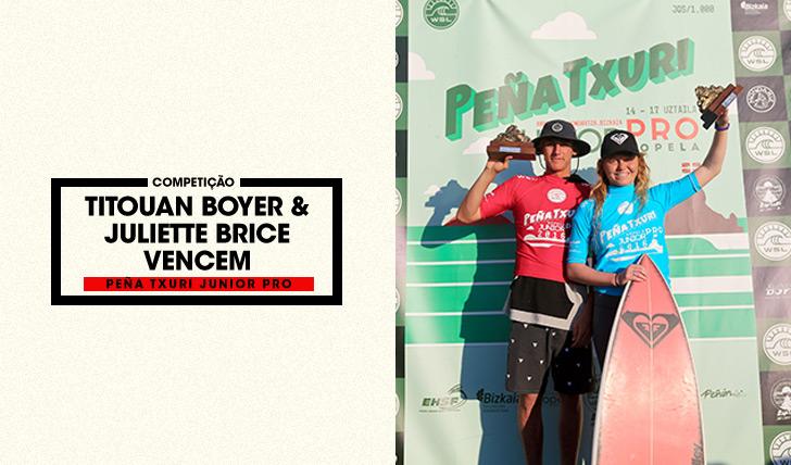 32446Titouan Boyer e Juilette Brice vencem Peña Txuri Junior Pro