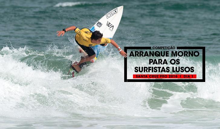 Salvador Couto foi um dos surfistas portugueses que já avançaram para o round 2. Photo by To Mané Photos