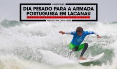 Frederico Magalhães foi uma das sete baixas da armada portuguesa neste primeiro dia de competição em Lacanau.
