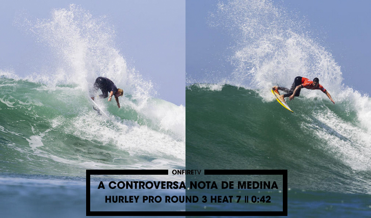 33570A controversa nota de Gabriel Medina no Hurley Pro || 0:42