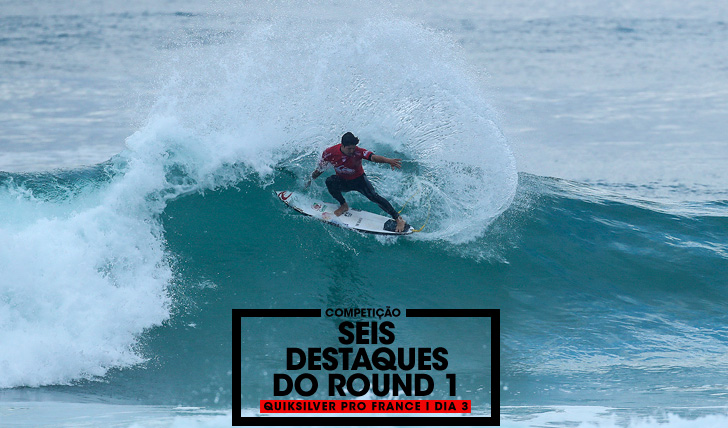 340176 destaques do round 1 do Quiksilver Pro France
