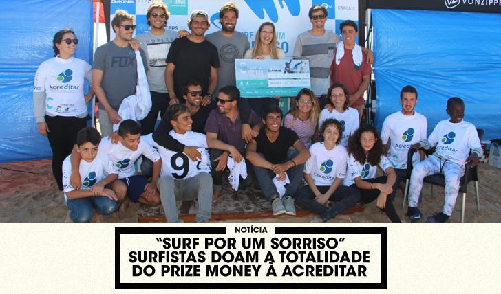 """34297""""Surf por um Sorriso"""" – Surfistas doam totalidade do prize money"""