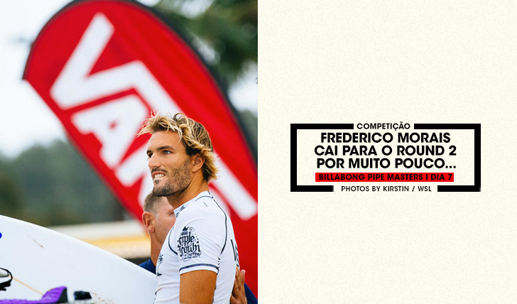 35325Frederico Morais perde por pouco no round 1 do Billabong Pipe Masters