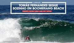 Tomás Fernandes num bottom preciso e perfeito para se transformar numa explosão de água e garantir presença no round 5 de mais um QS1000.