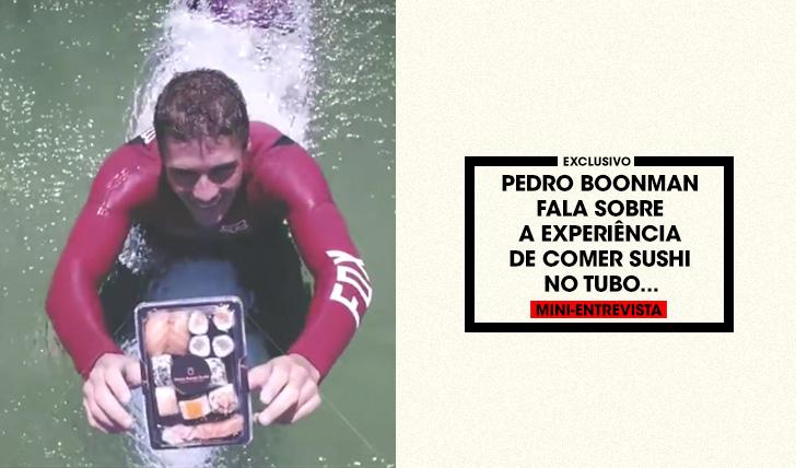 37954Pedro Boonman fala sobre comer Sushi dentro do tubo | Mini-Entrevista