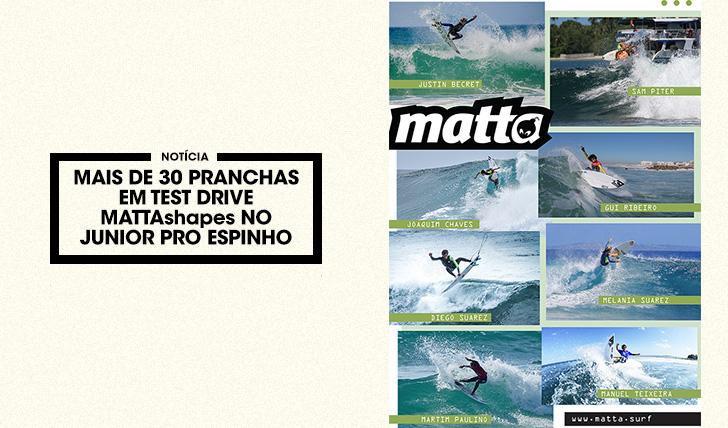 38417MATTAshapes faz Test Drive com mais de 30 pranchas de surf durante o Junior Pro Espinho