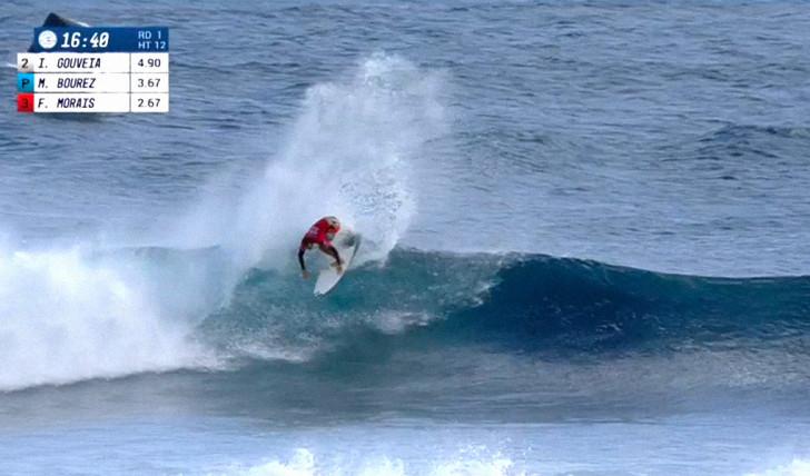 39466Morais relegado para round 2 do Billabong Pro Tahiti