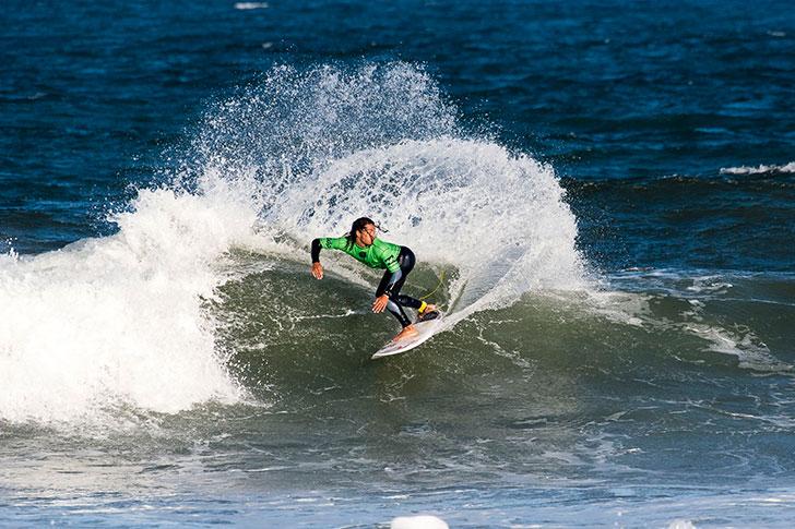 Miguel Blanco surfou muito e perdeu por pouco.