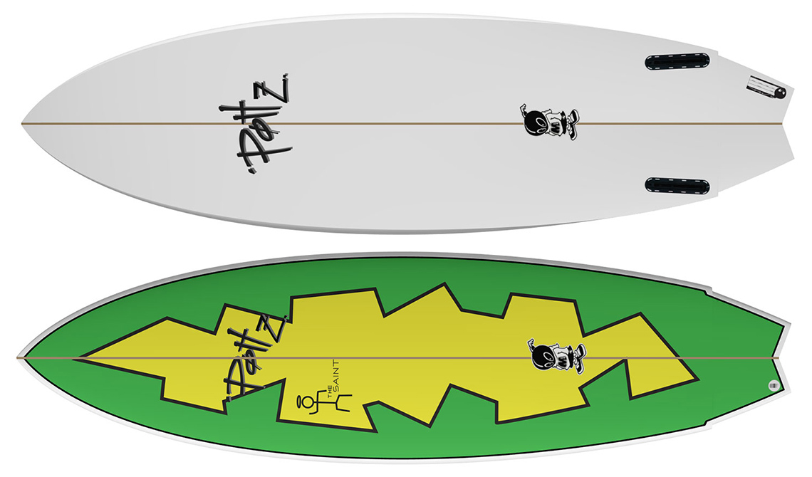 "45401Summer Boards | Twin Fin ""The Saint"" by POTTZ Surfboards"