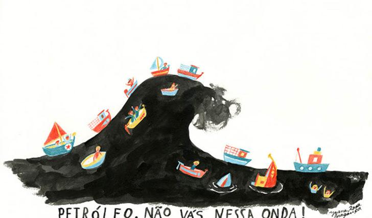 45790Petróleo é Má Onda – Protesto no mar