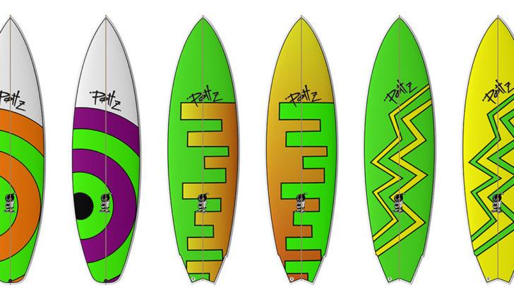 48927Pottz Surfboards com novos gráficos para 2019