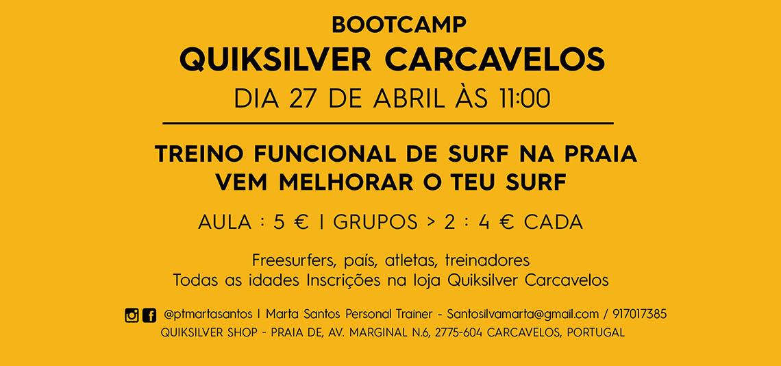 50029Bootcamp | Treino funcional de surf na Praia de Carcavelos