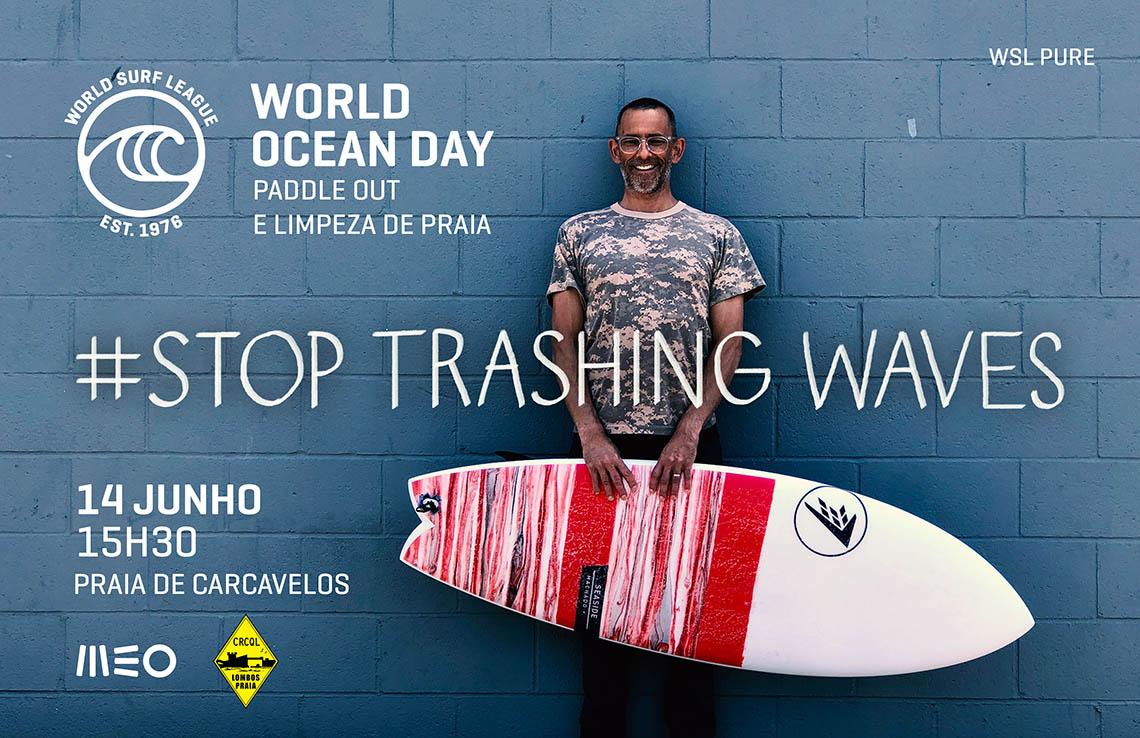 50958#stoptrashingwaves | Acção de limpeza de praia dia 14 de junho