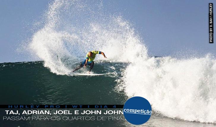 261612 surfistas ainda em prova no Hurley Pro (dia 4)